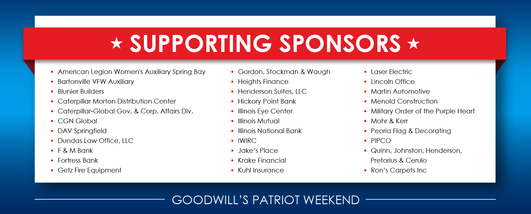 Supporting Sponsors 1