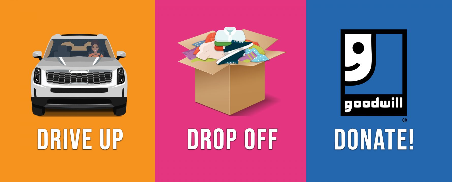 Drive Up, Drop Off, Donate